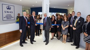 The Rt Hon Philip Hammond Chancellor of the Exchequer officially opens the UKAS Staines-upon-Thames office